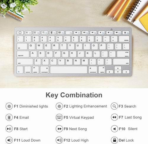 OMOTON 时尚超薄蓝牙无线键盘 22.93加元,原价 29.99加元