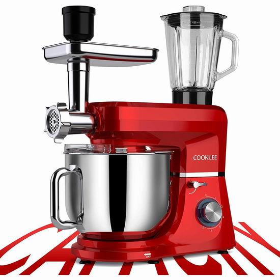 COOKLEE SM-1507BM 6合一 多功能厨师机5.2折 149.99加元限量特卖并包邮!3色可选!