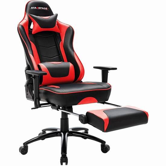 历史新低!STARSPACE 人体工学 高靠背赛车办公椅/游戏椅 167.99-175.99加元包邮!3色可选!