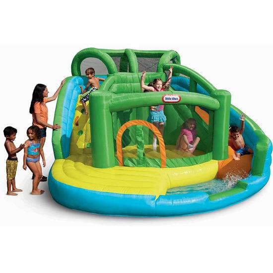 Little Tikes 小泰克 二合一 干湿两用 充气式 攀爬+滑梯+蹦床 大型水上乐园 643.47加元包邮!