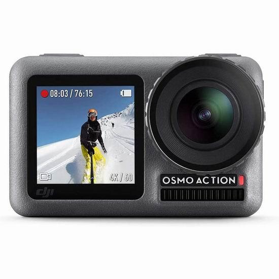 历史新低!DJI 大疆 Osmo Action 4K HDR  前后双屏 灵眸运动相机5.9折 264.09加元包邮!