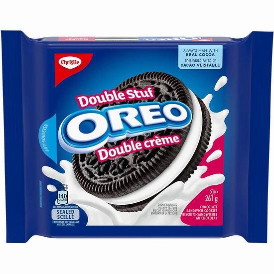 历史新低!OREO 奥利奥 Double Stuf 巧克力夹心饼干(261克)5折 2加元!