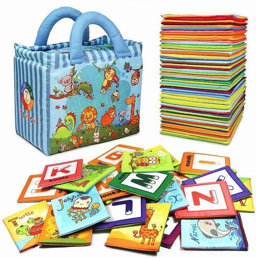 TEYTOY 宝宝启蒙益智布书 26件套含字母卡片 4.8折 22.94加元,原价 48.23加元