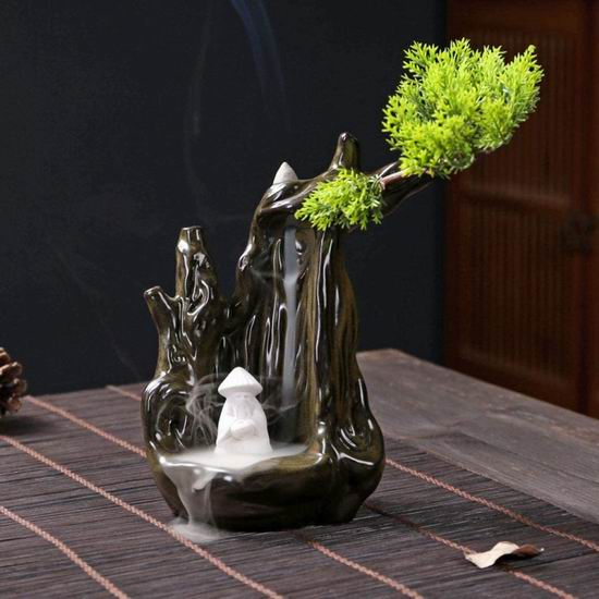 精选多款 YYW 中国风创意檀香 高山流水 倒流香炉 观赏陶瓷盆景摆件 9.98加元起热卖中!