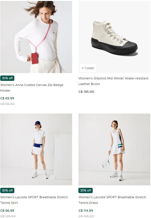Lacoste 法国鳄鱼 精选男女时尚服饰、鞋履、手袋等5折起+包邮!