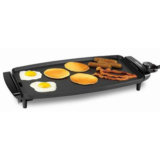 BLACK+DECKER GD1810BC 家用不粘底电烤盘/铁板烧 36.98加元包邮!