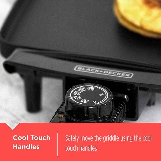 白菜补货!历史新低!BLACK+DECKER GD1810BC 家用不粘底电烤盘/铁板烧3.1折 19加元清仓!