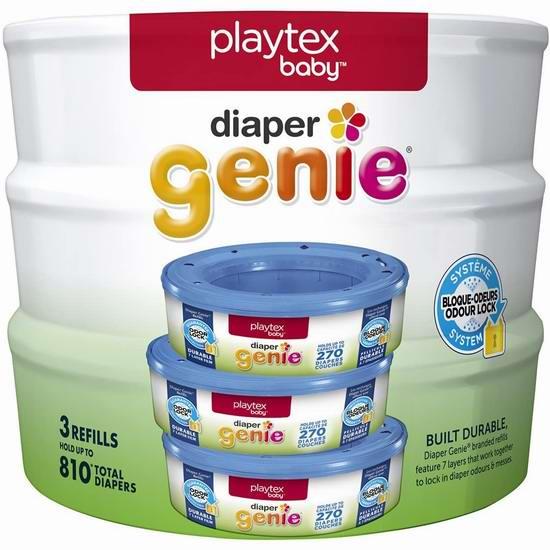 Playtex Diaper Genie 3盒装尿布桶垃圾袋替换芯 19加元包邮!