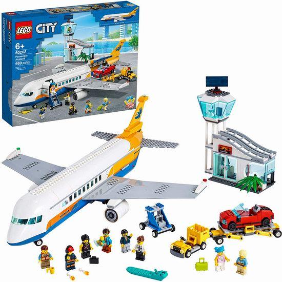 历史新低!LEGO 乐高 60262 城市系列 民航客机(669pcs)8折 111.99加元包邮!