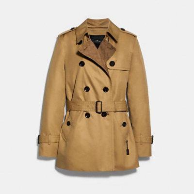 白菜价!Coach Outlet精选多款经典双排扣风衣、防寒服、夹克等3折起清仓,风衣低至5!美得高挑显气质!