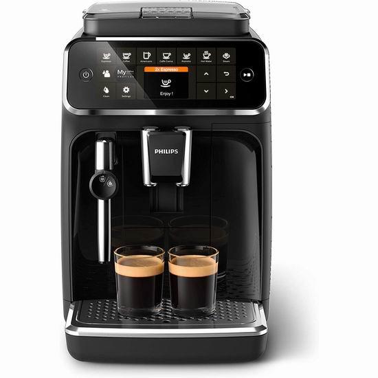 历史新低!新品促销 Phlips 飞利浦 4300系列 EP4321/54 全自动意式咖啡机6.4折 670.83加元包邮!