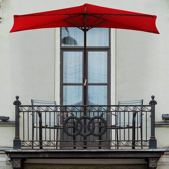 历史新低!Pure Garden 50-145-R 9英尺 半圆形 阳台/庭院露台遮阳伞4.1折 69.99加元包邮!