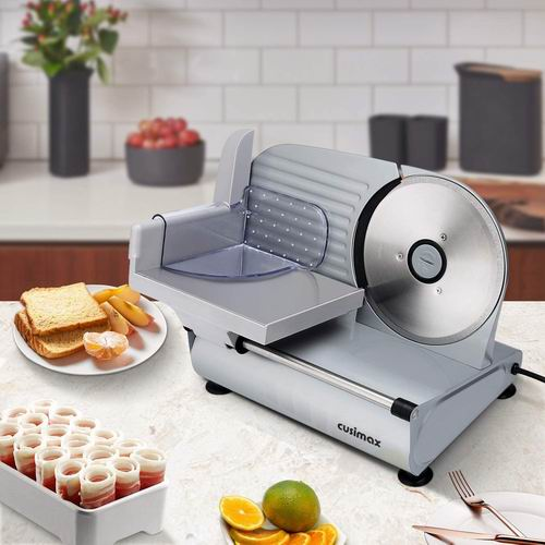 冻肉切片神器!CUSIMAX 7.5英寸多用途不锈钢切片机7.3折 111.86加元包邮!
