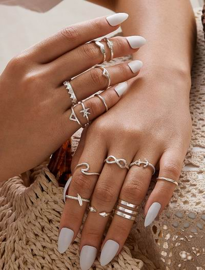 戒指控看过来!Shein 时尚精美戒指 4加元+满额外8折,多层次穿搭,搭出你独有风格!