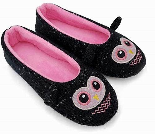 Ofoot女士室内防滑芭蕾舞鞋/卡通居家鞋 9.99加元(多款可选),原价 29.99加元