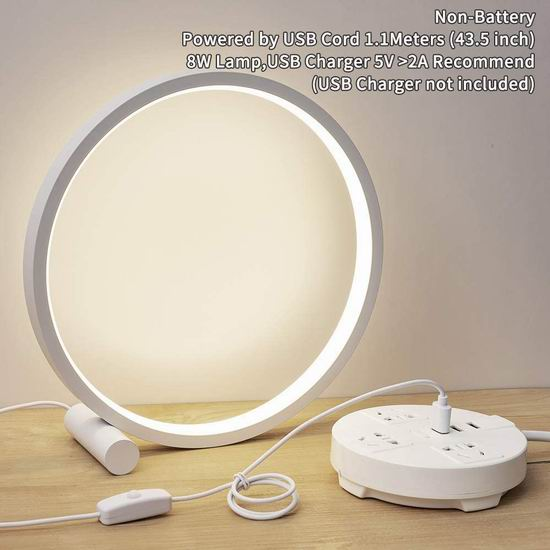 历史新低!GEPROSMA 高颜值 创意环形 LED护眼台灯/装饰灯5折 17.49加元!免税!