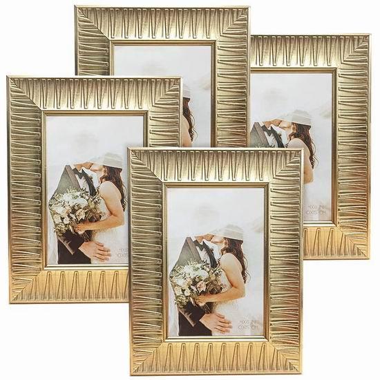 历史新低!ArtbyHannah 4x6英寸 金色相框4件套 10.99加元清仓!