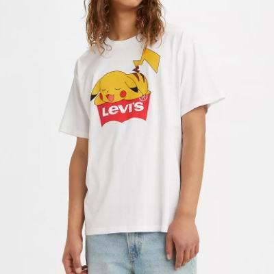 最后一天!白菜价!Levi's 李维斯春季清仓,精选男女时尚服饰等1.4折起!入迪士尼、宝可梦系列!