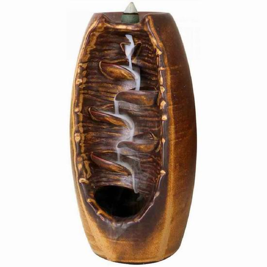 OUYEE 创意檀香倒流香炉 观世音陶瓷盆景摆件 26.99加元包邮!送价值31.99加元倒流香炉!
