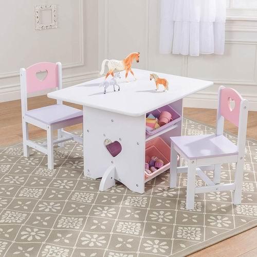 KidKraft 儿童爱心桌椅套装 7.3折 155.3加元,原价 212加元,包邮