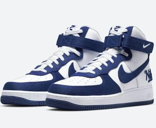 最后一双!NIKE  Air Force 1 '07 LV8 男士蓝白色高帮运动鞋 160加元(10码)