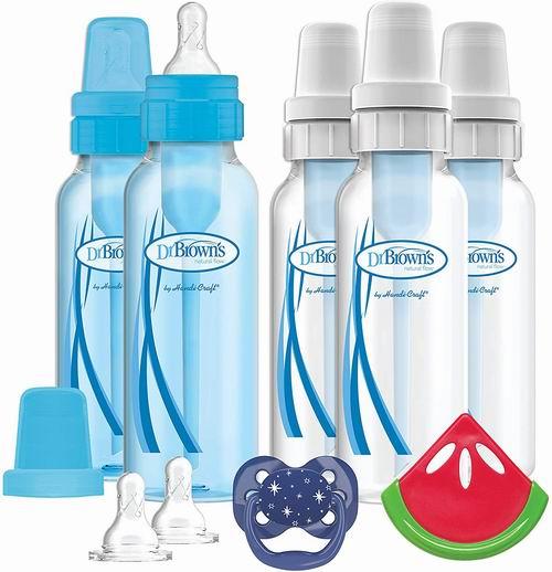 Dr Brown's 防胀气婴儿奶瓶5件+奶嘴+牙胶+乳头 套装 29.46加元,原价 38加元
