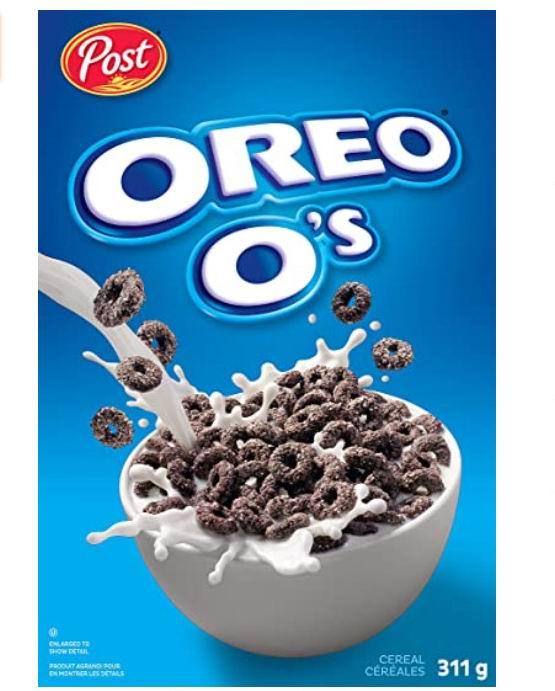 Post 奥利奥巧克力曲奇口味早餐麦片 311克 2.98加元
