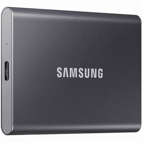 Samsung 三星 SSD T7 2TB 便携式移动固态硬盘 379.99加元包邮!3色可选!
