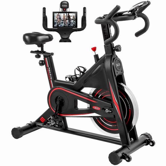 历史新低!DMASUN 40磅飞轮 高品质家用动感健身自行车 399.99加元包邮!