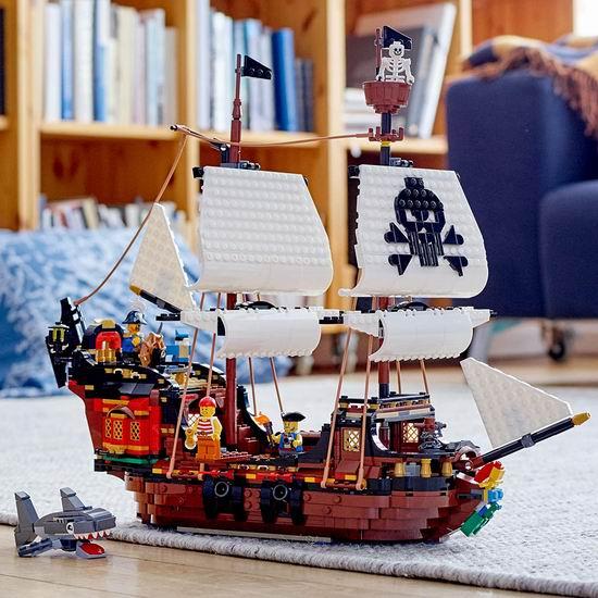 历史新低!LEGO 乐高 31109 创意百变系列 海盗船(1260pcs)111.97加元包邮!