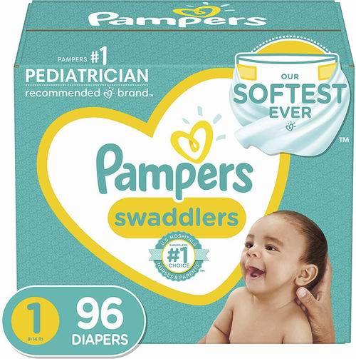 Pampers Swaddlers 纸尿裤(Size 1-6)18.98加元,原价 29.99加元