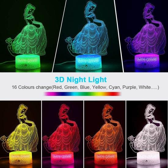 历史最低价!CNSUNWAY 超可爱创意 16变色LED 3D夜灯 9.99加元清仓!4款可选!