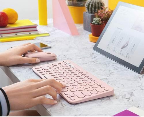 Logitech K380 多功能蓝牙键盘 粉色款 49.99加元+包邮