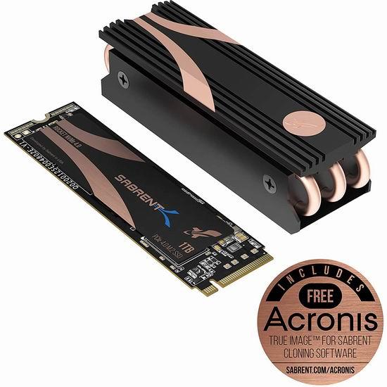 金盒头条:历史新低!Sabrent 1TB Rocket Nvme PCIe 4.0 M.2 固态硬盘+散热盔甲 183.99加元包邮!