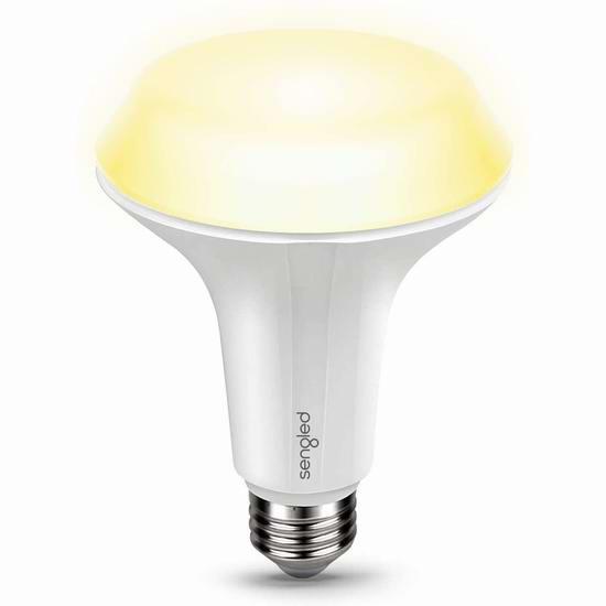 白菜价!历史新低!Sengled BR30 LED 60瓦等效 15秒延时关闭 泛光照明 软白色LED节能灯3.3折 4.99加元清仓!