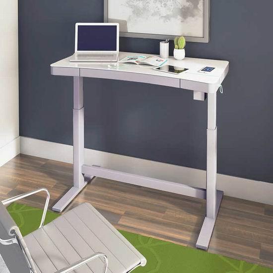 Tresanti 47英寸 高颜值 玻璃台面 电动升降 电脑桌 299.99加元包邮!3色可选!