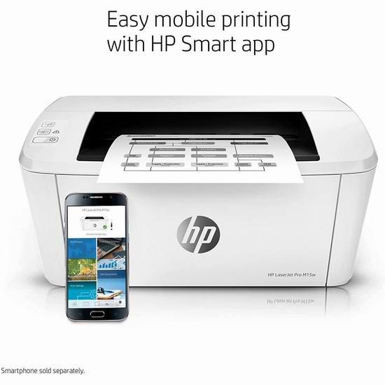 HP 惠普 PROM15W 无线黑白激光打印机 124.99加元包邮!号称史上最小激打!
