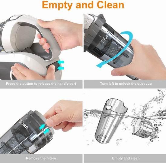Dibea UV-10 升级版 紫外线杀菌 HEPA过滤 除尘螨 手持式吸尘器7.1折 99.99加元限量特卖并包邮!