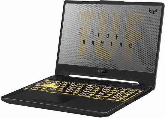 历史新低!Asus 华硕 TUF506LH-DB51-CA TUF 军标加固 15.6英寸游戏笔记本电脑(GeForce GTX1650, 8GB, 512GB SSD) 849.99加元包邮!内存可升级!