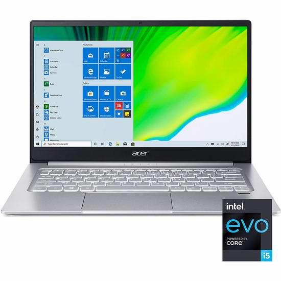 Acer 宏碁 Swift 3 蜂鸟 SF314-59-5487 14寸超纤薄笔记本电脑(8GB, 256GB SSD) 658.98加元包邮!