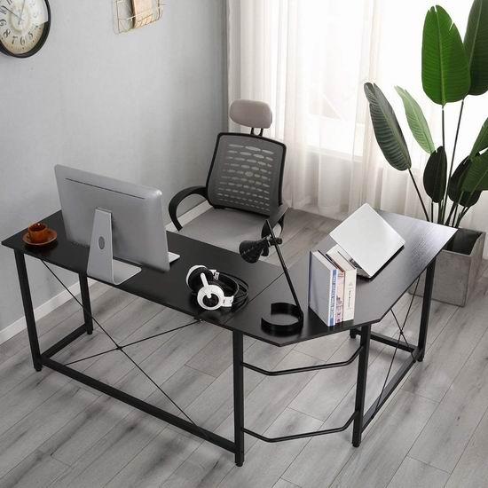 SogesGame L型时尚电脑桌/办公桌5折 79.99加元限量特卖并包邮!