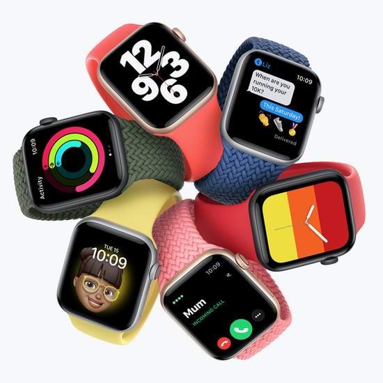 Apple Watch Series 6 苹果智能手表 GPS 44mm 479加元(多色可选),原价 569加元,包邮