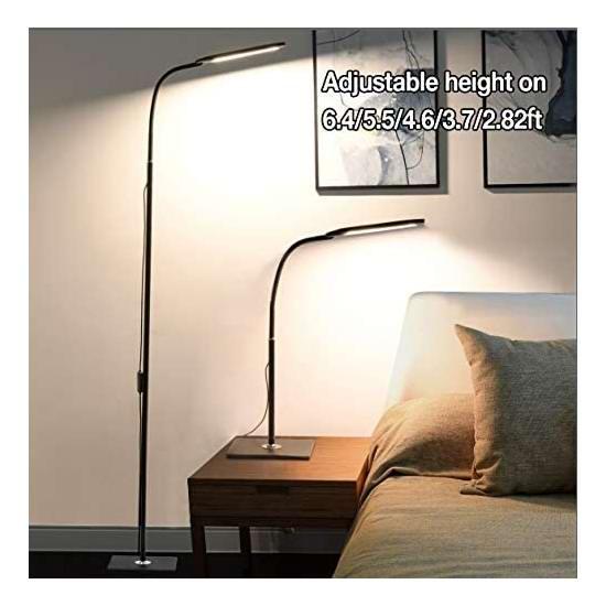 ALongDeng 14瓦 LED护眼 二合一 时尚台灯/落地灯 39.99加元包邮!