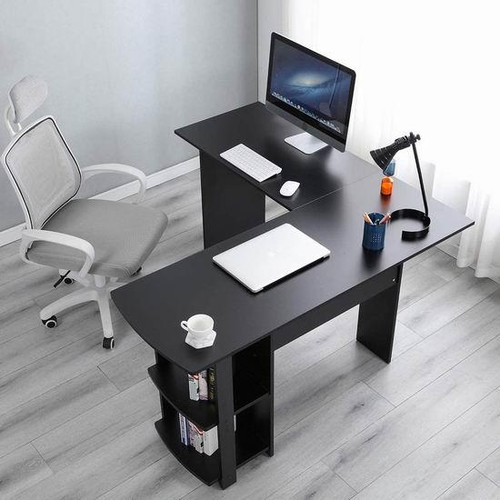 DlandHome L型时尚电脑桌/办公桌 84.14加元限量特卖并包邮!