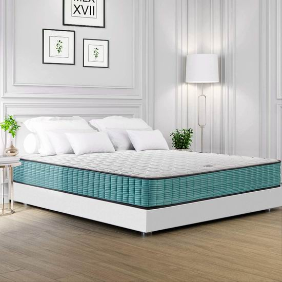 BedStory 10英寸 中等硬度 弹簧+海绵 King床垫 249.99加元包邮!