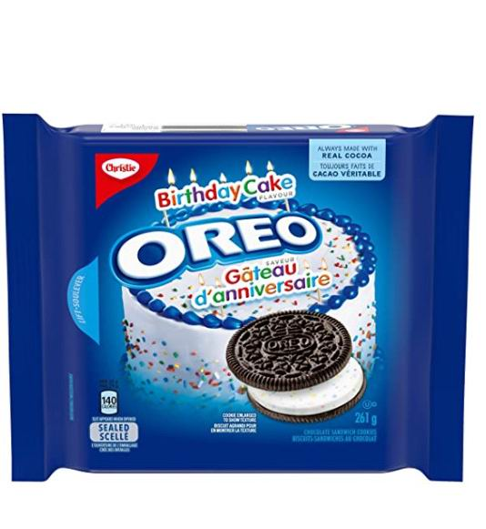 OREO 奥利奥 Birthday Cake 巧克力夹心饼干 2.77加元,多种味道可选!
