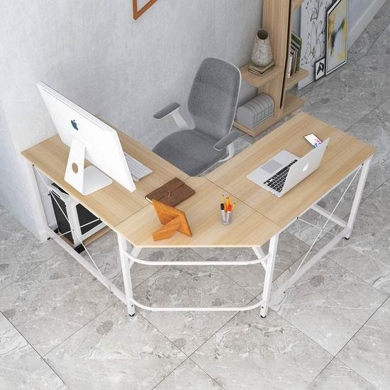 SogesPower L型时尚电脑桌/办公桌5折 84.14加元限量特卖并包邮!
