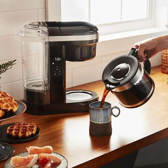 历史新低!KitchenAid KCM1208OB 12杯量 半自动滴漏式咖啡机4.9折 69加元清仓并包邮!