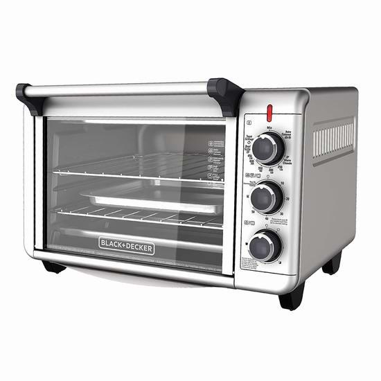 历史新低!BLACK + DECKER TO3000GC 6 Slice 不锈钢对流电烤箱4.9折 49加元清仓并包邮!