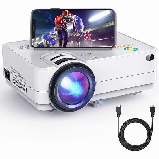 历史新低!3Stone A5 4500流明 原生720P WiFi无线 LED家庭影院投影仪 97.99加元包邮!免税!